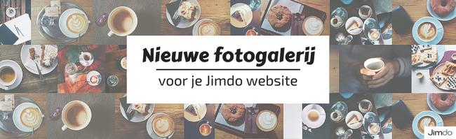 Nieuwe fotogalerij Jimdo websites
