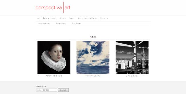 Jimdo website over Nederlandse en Russische kunst