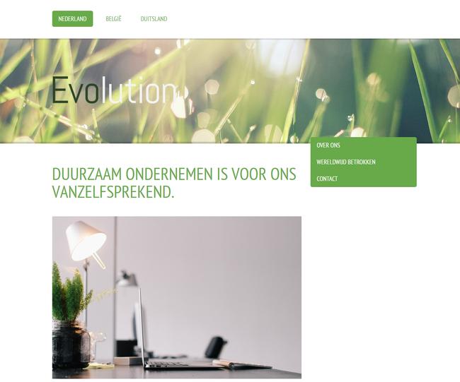 Design voor een bedrijfswebsite van Jimdo