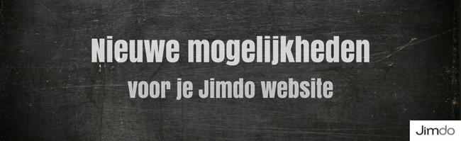 Nieuwe website functies Jimdo