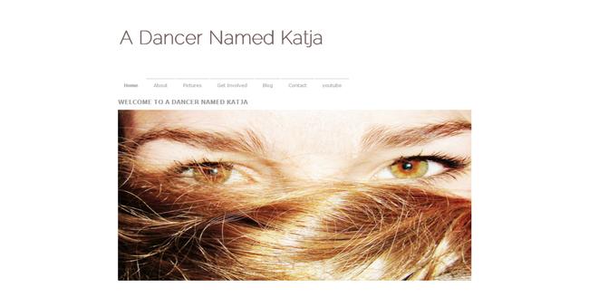 Kunstwebsite van danseres Katja Rakic