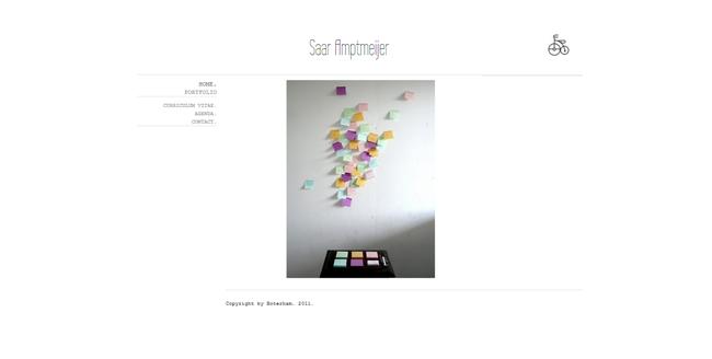 Website van kunstenares Saar Amptmeijer