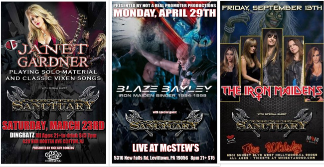 Janet Gardner, Corners of Sanctuary, Blaze Bayley,Finger Lakes Metal Fest,Whiskey A Go-Go,Iron Maidens,