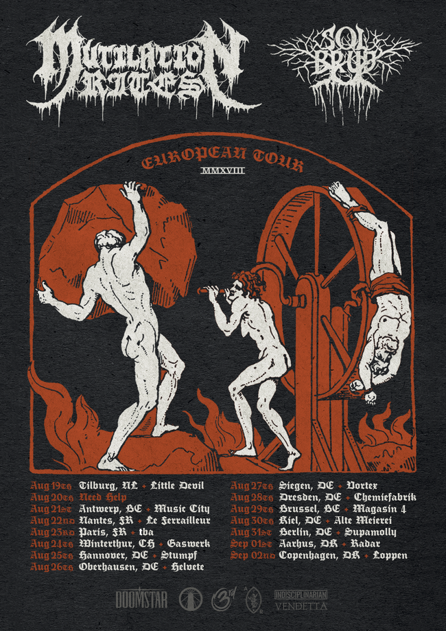 MUTILATION RITES' European tour with Danish Solbrud