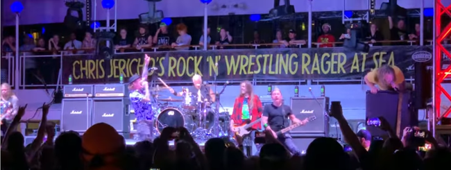"Fozzy and Corey Taylor cover Kiss' ""Cold Gin""on Chris Jericho Cruise"
