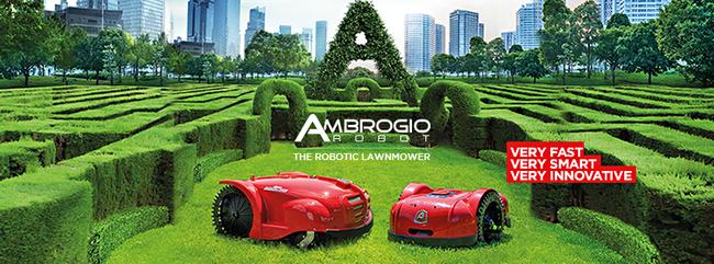 ambrogio robot, snel, slim innovatief, uitstekend maairesultaat
