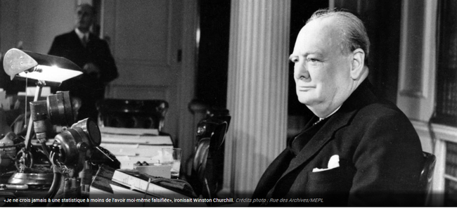 Je ne crois jamais les statistiques, à l'exception de celles que j'ai falsifiées moi-même (Churchill)