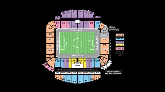 Sitzplan Brighton & Hove Albion AMEX Stadium, Quelle: www.premierleague.com