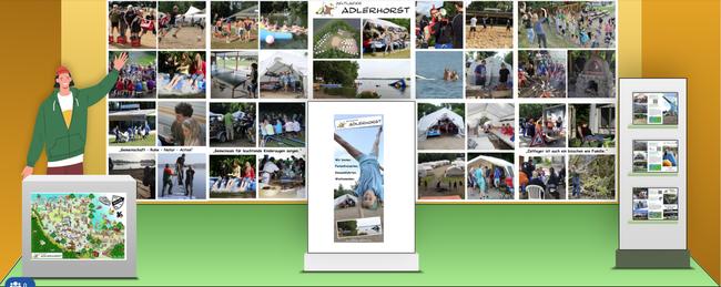 erster digitaler deutscher Jugendhilfetag (DJHT), Messestand Zeltlager Adlerhorst