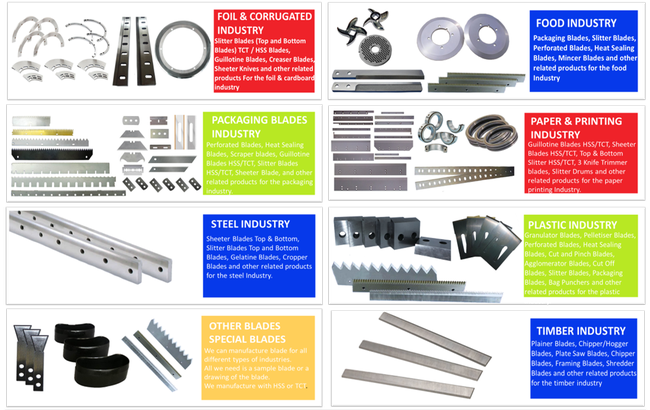 Blade Pictures On Different Types Of Blades Manufactured