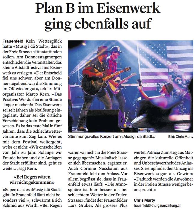 Thurgauer Zeitung 4.09.2017