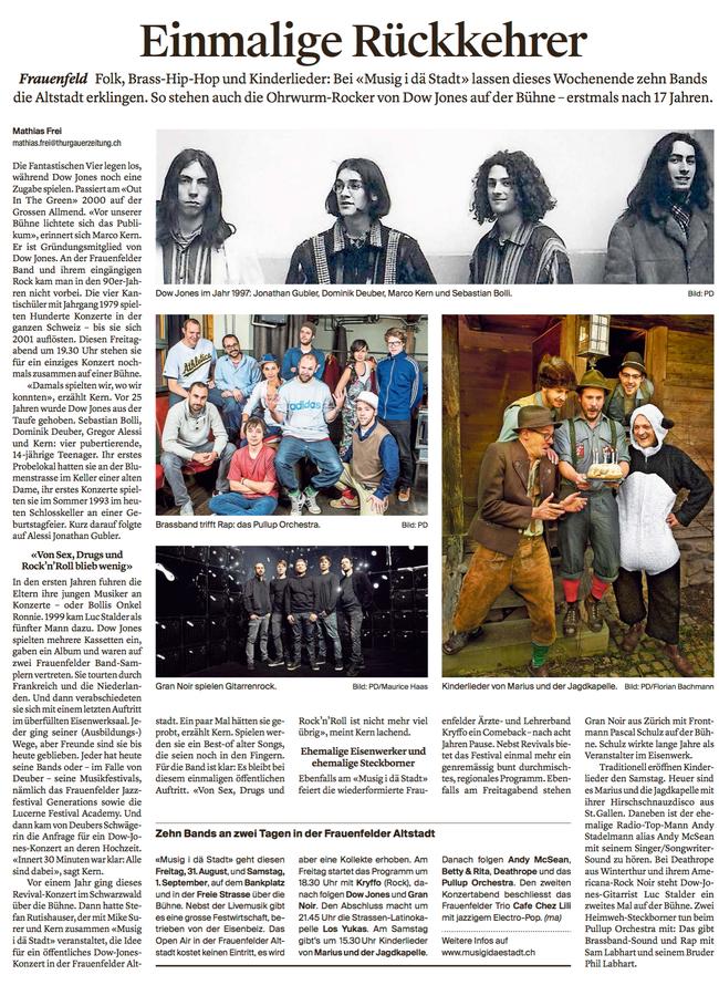 Thurgauer Zeitung 29.08.2018