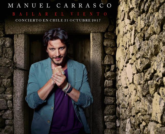 El cantautor español Manuel Carrasco Galloso,  (El 21 Octubre estará en Chile)