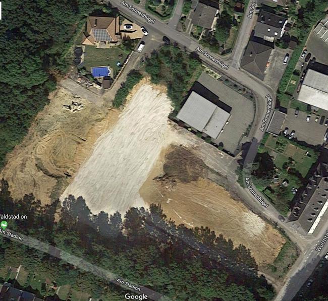 Leer - vorbereitet für das neue Wohngebiet (c) Google Earth