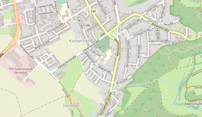 Ortsteil Kämpchen 2021 - Quelle: OpenStreetMap