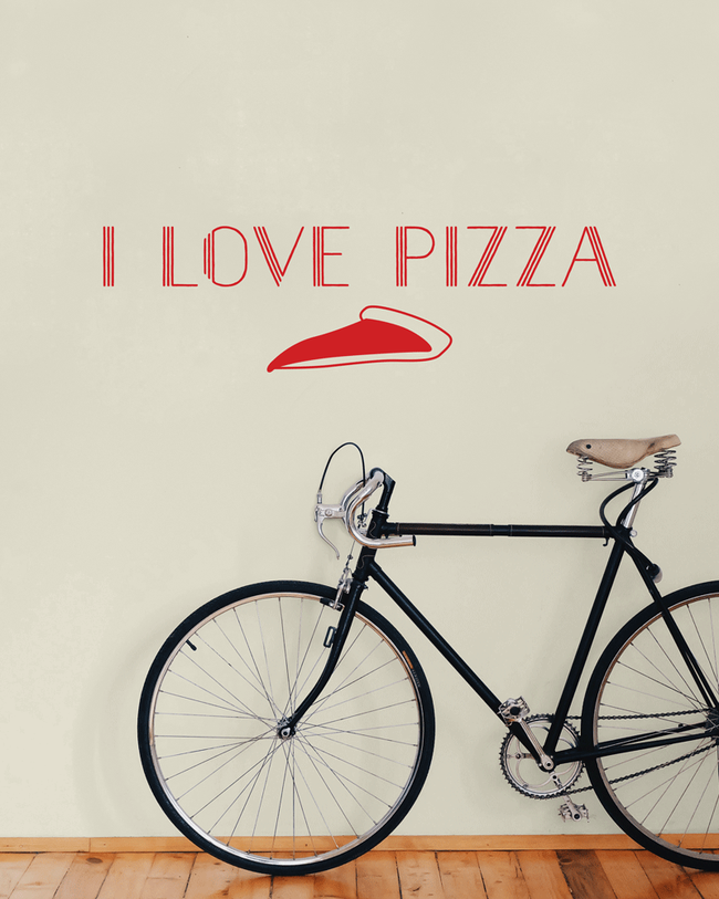 I love pizza wall art sticker. From www.wallartcompany.co.uk
