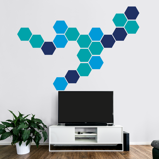 Honeycomb Geometric Wall Art hexagon stickers decoration