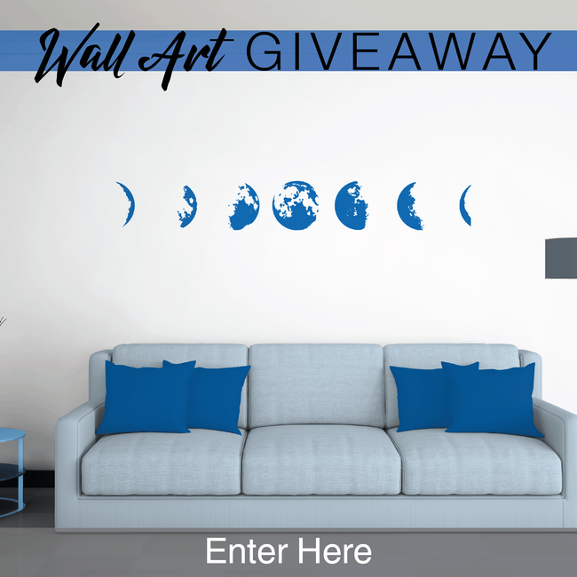 Wall art company giveaway contest phases of the moon prize.