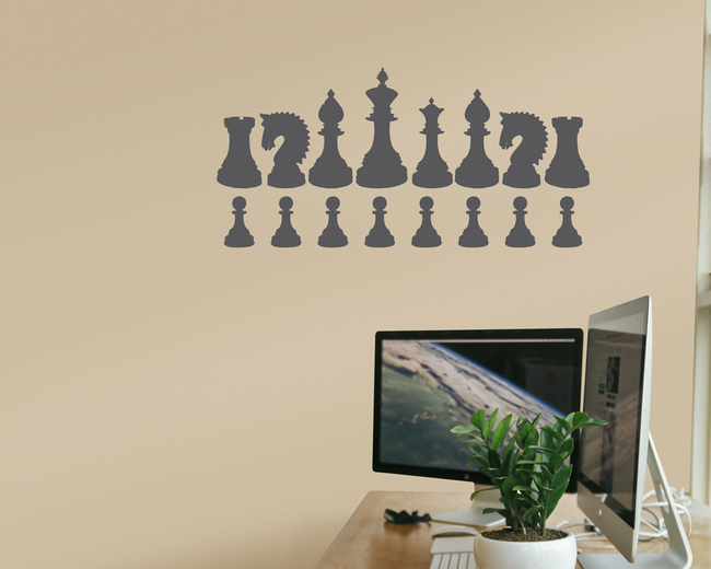 Chess vinyl wall art stickers. From www.wallartcompany.co.uk