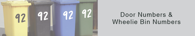 Door Numbers and Wheelie Bin Number stickers