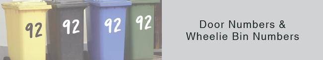 Door Numbers and Wheelie Bin Number stickers