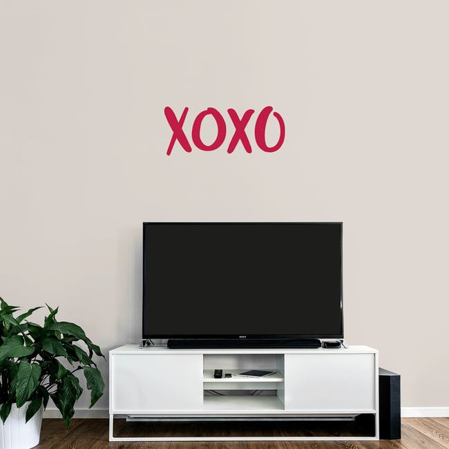xoxo whisper wall art sticker love quote from www.wallartcompany.co.uk comes in loads of colours.