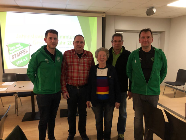 v.l.: Julian Trillken, Fred Thoms, Gisela Klamp, Walter Leitzbach, Michael Gutermuth