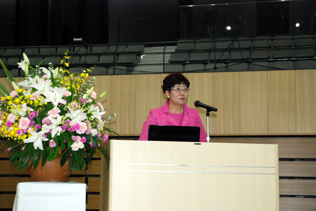 Dr. Keiko Nakamura, Secretary General of the Alliance for Healthy Cities