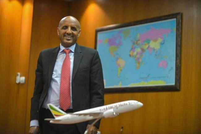 CEO Tewolde GebreMariam has his sights on the future - Image: Ethiopian Airlines
