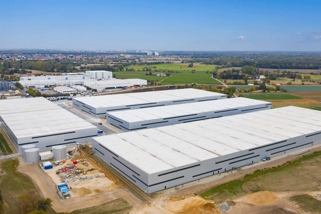 Image of the new logistics parc in Gross Gerau, near Frankfurt, Jettainer's new operational home  -  courtesy Four Parx GmbH