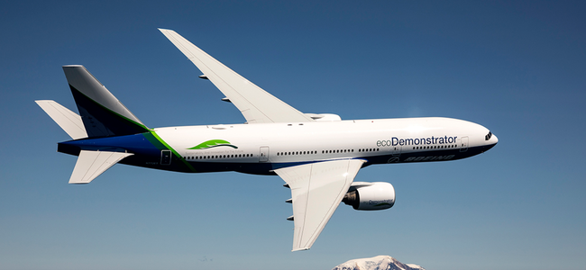 Greener skies through SAF. Image: Boeing