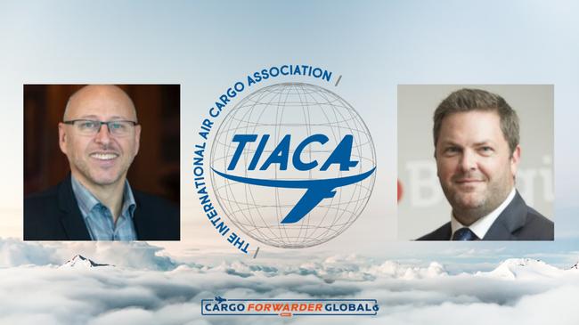 Glyn Hughes and Steven Polmans present TIACA's plans. Image: TIACA/CFG