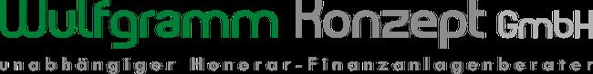 """Logo: Wulfgramm Konzept GmbH, Hamburg   Fachbereich """"MeinDepot"""", Dipl.-Kfm. Andreas Wulfgramm - unabhängiger Honorar Finanzanlagenberater für angestellte und niedergelassene Ärzte"""