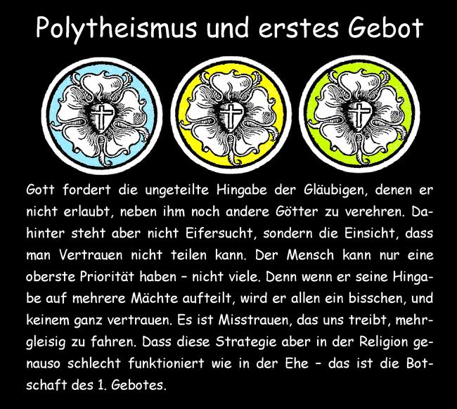 Polytheismus und erstes Gebot