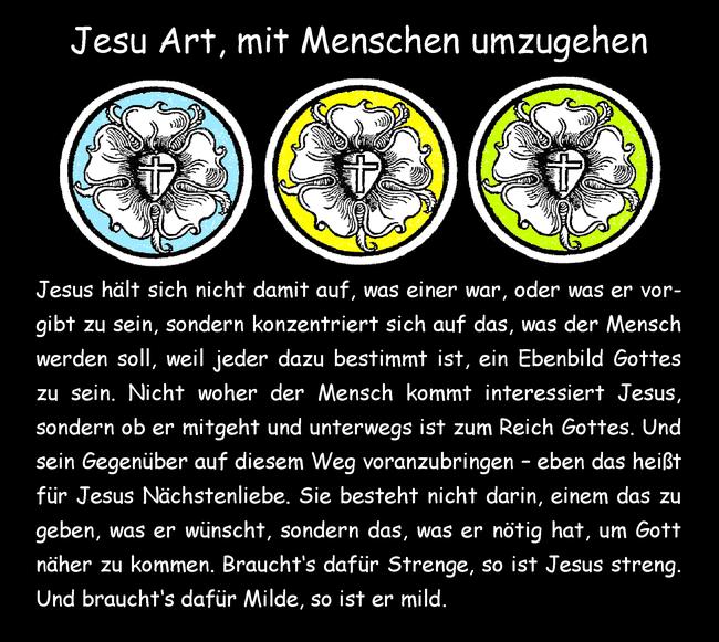 Jesu Art, mit Menschen umzugehen