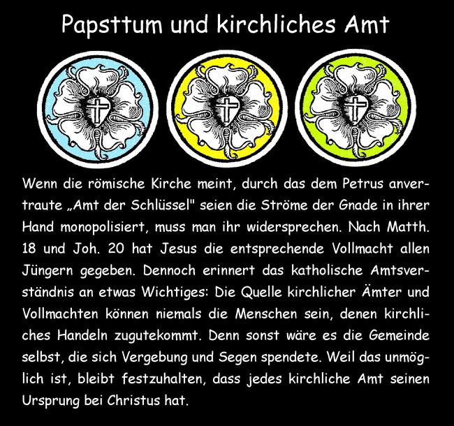 Papsttum und kirchliches Amt