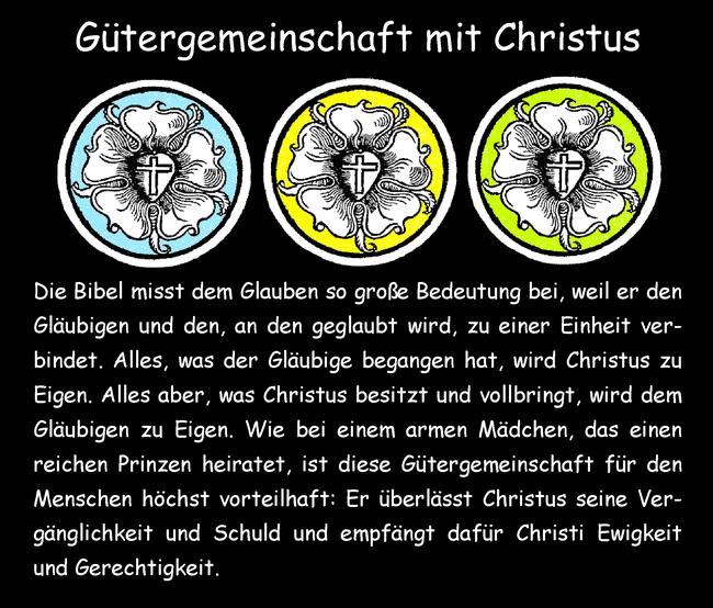 Gütergemeinschaft mit Christus