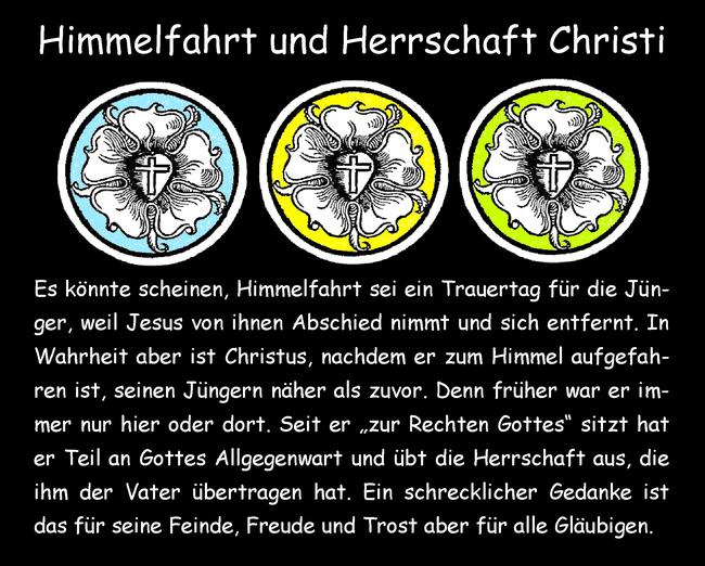 Himmelfahrt und Herrschaft Christi
