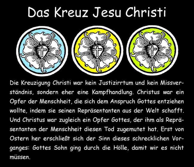 Das Kreuz Jesu Christi