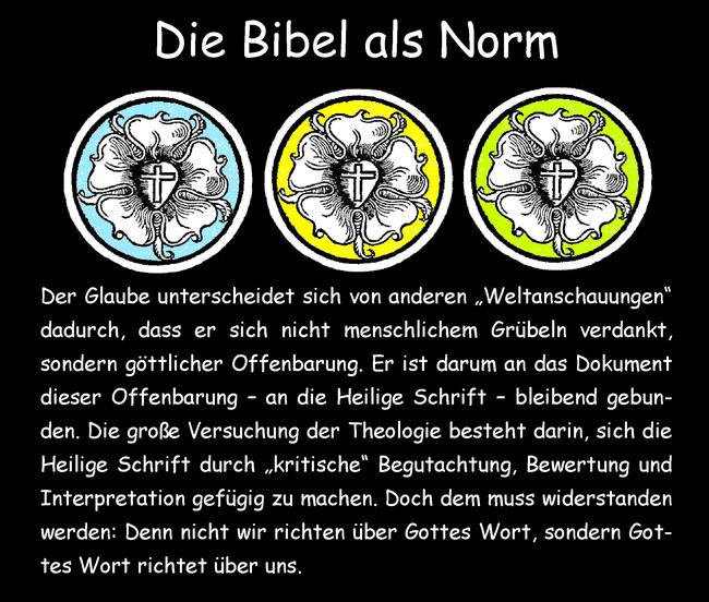 Die Bibel als Norm