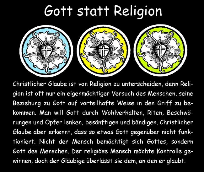 Gott statt Religion
