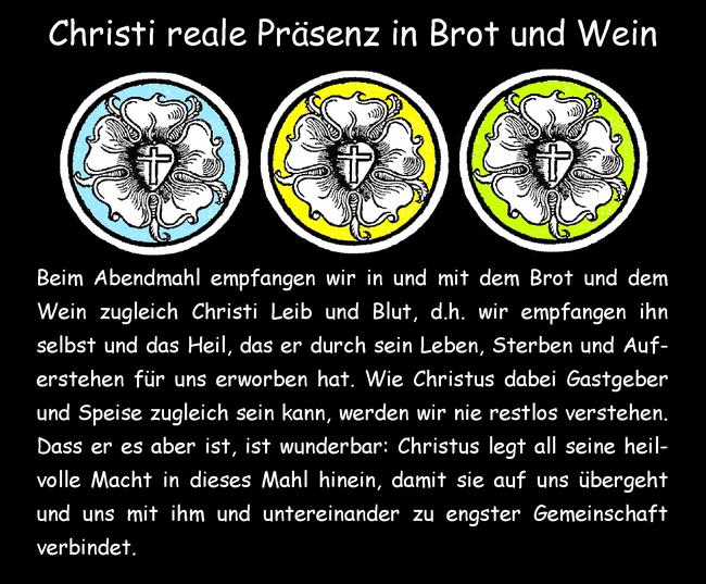 Christi reale Präsenz in Brot und Wein
