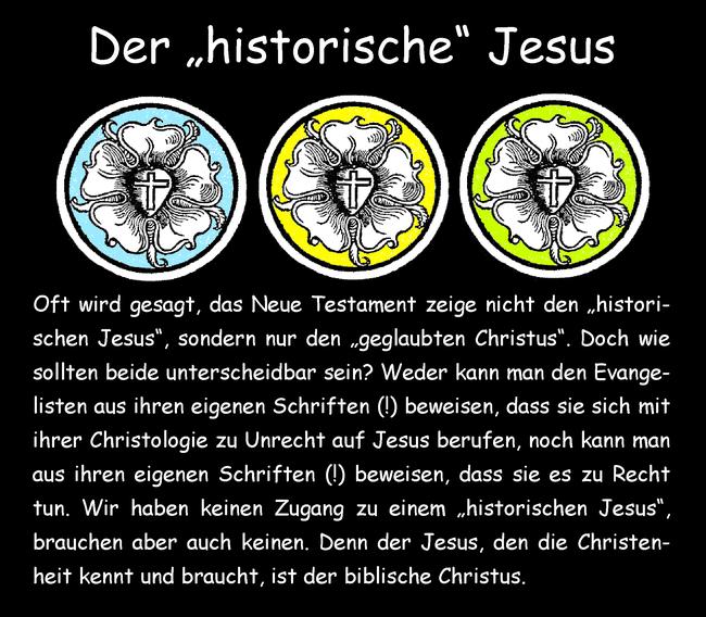 """Der """"historische"""" Jesus"""