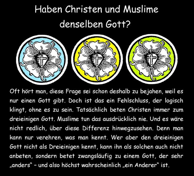 Haben Christen und Muslime denselben Gott?