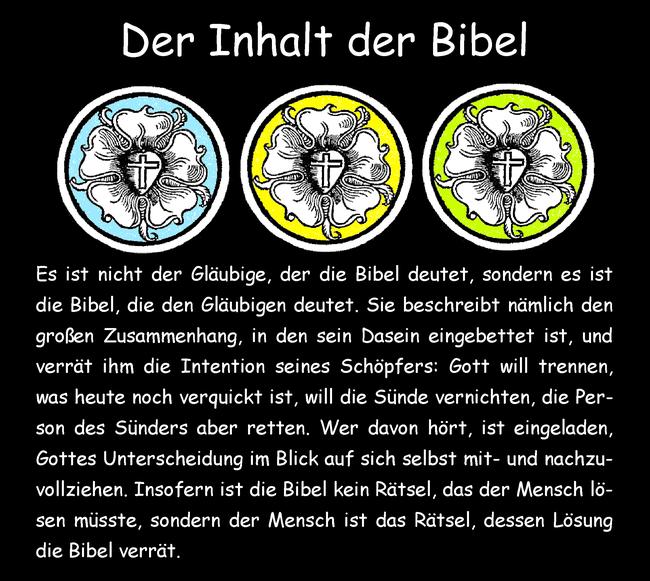 Der Inhalt der Bibel