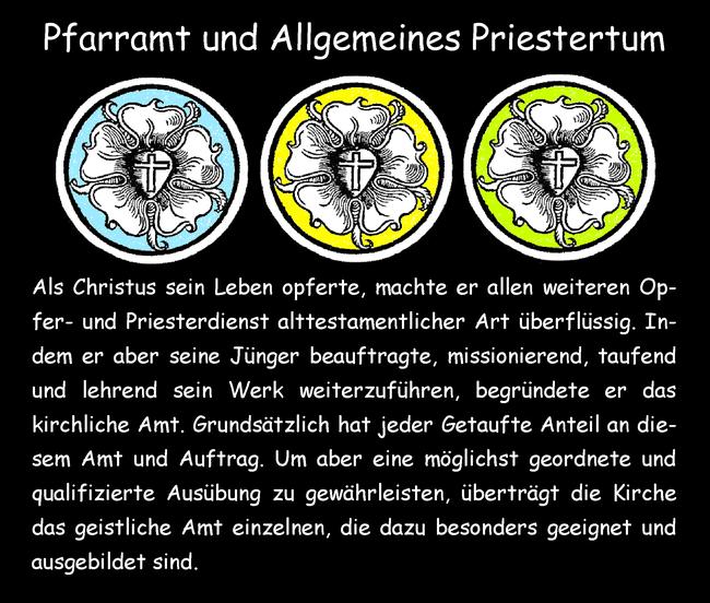 Pfarramt und Allgemeines Priestertum