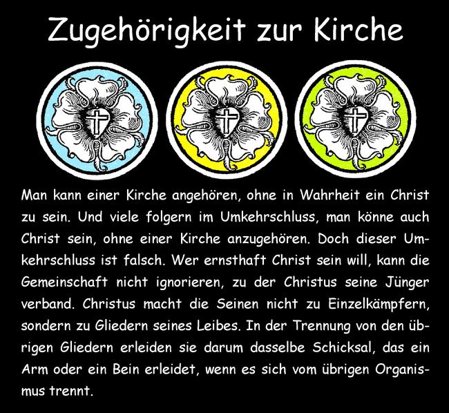 Zugehörigkeit zur Kirche