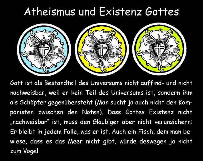 Atheismus und Existenz Gottes