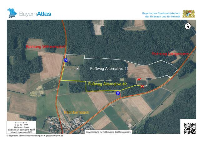 Anfahrtsplan Trainingsgelände Kirchfarnbach