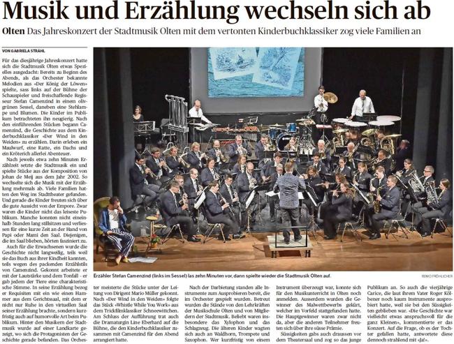 Bericht Oltner Tagblatt OT vom 07.05.2018